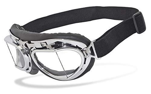 Helly® - No.1 Bikereyes® | UV400 Schutzfilter, HLT® Kunststoff-Sicherheitsglas nach DIN EN 166 | Motorradbrille | Brillengestell: schwarz, chrom/silber matt, Brille: rb-2