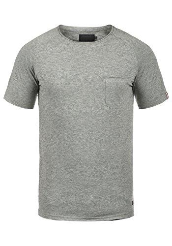 PRODUKT Xora Herren T-Shirt Kurzarm Shirt Rundhalsausschnitt Aus Hochwertiger Baumwollmischung, Größe:XL, Farbe:Medium Grey Melange (Tee Mit V-neck Ausgestattet)