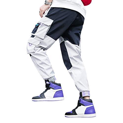 Irypulse Herren Cargo Kampf Hose, Lässige Straßenmode Hip Hop Hosen für Jugendliche und Jungen, Multi Taschen Arbeitshosen Klettmanschetten - Original Design (Skateboard-kleidung Jungen)