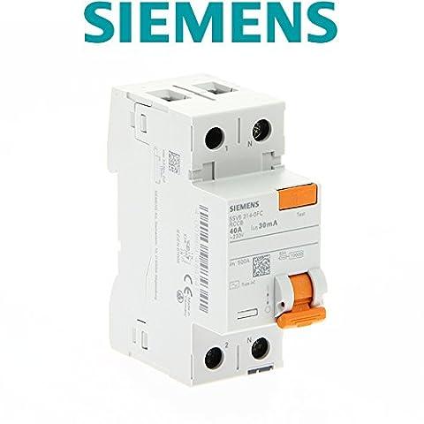 Siemens - Interrupteur différentiel 2P 40A, 30mA type