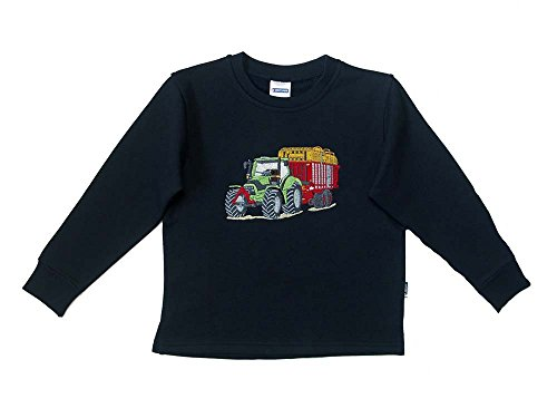 Zintgraf Sweatshirt Stickerei Traktor Tandem Silagewagen #J46 (110, Blau)
