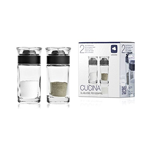 Leonardo 37715 Cucina Salz- und Pfefferstreuer 2-tlg., Materialmix, 40 ml