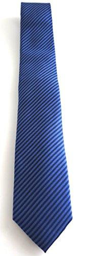 Calvin Klein Seidenkrawatte Elegance Streifen blau