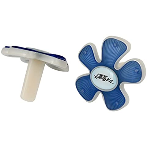 Pares azules estilo de la flor de plástico Vent clip Ambientador para el coche