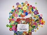 KosiKrafts® Nähen- und Bastelknöpfe. Verschiedene Gewichte und Farben erhältlich (200 Grams, Bright Mixed)