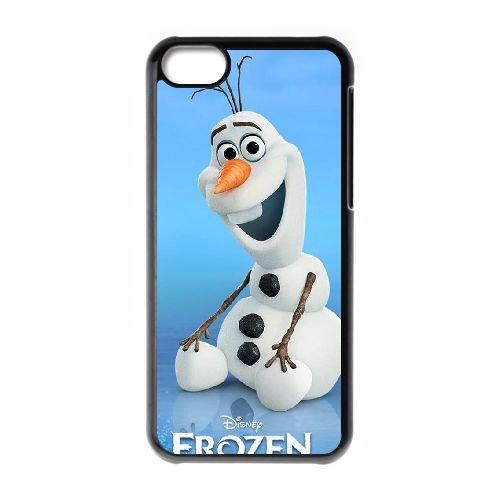 E3O71 Disney Frozen Caractère étui de téléphone Olaf B3O5JN coque iPhone 5c cellulaire couvercle coque noire FW4GCO8IA