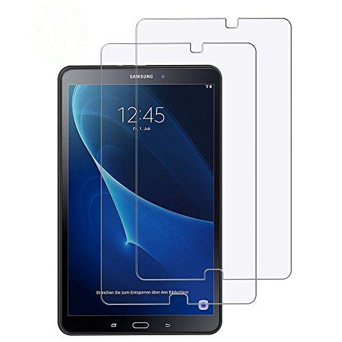 EasyAcc [2 Stück Schutzfolie kompatibel für Samsung Galaxy Tab A 10.1, Klar Anti-Kratz Glas Folie Panzerfolie kompatibel für Samsung Galaxy Tab A 10.1 T580/T585-9H Hardness aus gehärtetem Glas