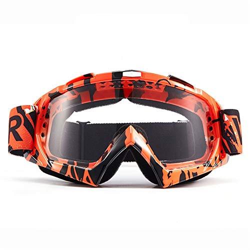 erhuo Motorradfahrerausrüstung Off-Road-Skibrille Skibrille, die Brille im Freien mit Beschlagschutzbrille, Farbe 0017, fährt