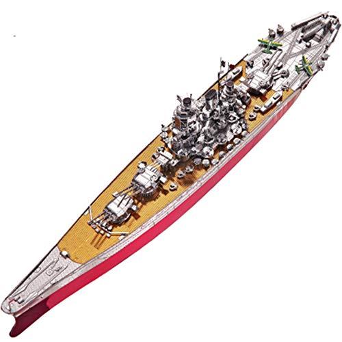 Japan Yamato Schlachtschiff 3D Metall Puzzle Modell Kit Dekoration DIY 3D Laser Cut Puzzle Spielzeug Silber + Werkzeug Eine Größe