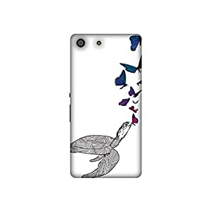 The Racoon Lean printed designer hard back mobile phone case cover for Sony Xperia M5. (Butterfly)
