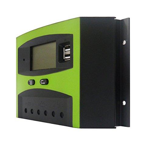 Contrôleur solaire intelligent de contrôleur de charge solaire 48V 30A avec écran LCD facile à lire et ports USB LD3048