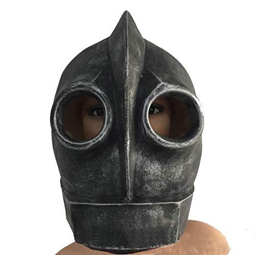 Roboter Kostüm Halloween - Littlefairy Masken für Erwachsene,Spiel Roboter Haube Classic Latex Maske Helm