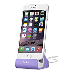 Belkin MIXIT Charge and Sync Dock with Lightning Cable Connector for iPhone 6 / 6 Plus, iPhone 5 / 5S / 5c and iPod touch 5th Gen (Purple)