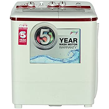 Godrej  6.2 kg Semi-Automatic Top Loading Washing Machine (GWS 6204 PPD Twin Tub, Wine Red)