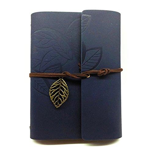 SAYEEC, Tagebuch / Reisetagebuch / Notizbuch, Vintage-Stil, Bronze-Blatt, PU-Einband A6 - Gewicht Papier Owl