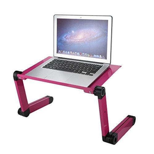 maistore portátil cama soporte para ordenador portátil de escritorio mesa 360° plegable portátil ajustable aleación de aluminio conjuntos cama bandeja para oficina en casa PC portátil