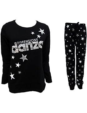 pigiama donna lungo in cotone jersey DIMENSIONE DANZA nightwear art. DD20039 (nero, 48/XL)