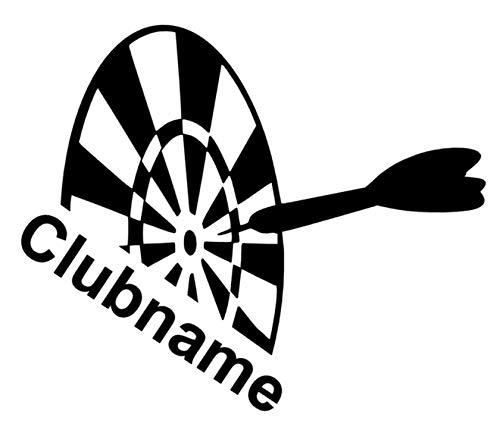 Generic Dart Aufkleber Club oder Auto Aufkleber Dartpfeile Aufkleber Dartspielen (139/2) (15cm, Silbergrau Glanz)