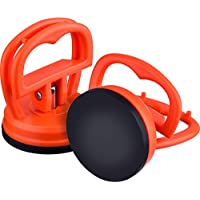 2 Pack 5,5 cm Extractor de Abolladuras Ventosa de Abolladuras de Coche Herramienta de Removedor, Naranja