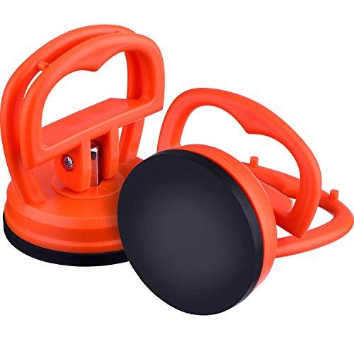 2 Packung 5,5 cm Dent Abzieher Auto Dent Saugnapf Auto Body Dent Abzieher Ausbau Werkzeug, Orange