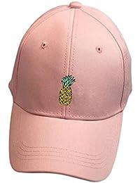 ❤️Amlaiworld Hombre mujer Gorra de béisbol Casual Sombreros de piña unisex  Sombrero de punta ajustable c0e8007da4f