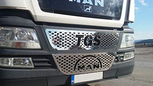 Unbekannt Set von 2Pcs. Poliert Spiegel Edelstahl Front Gitter Grill Covers TGS Truck Trucker Serie Dekoration Zubehör -