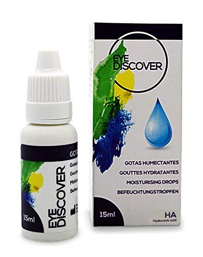 EYE DISCOVER Augentropfen mit Hyaluronsäure, Benetzungstropfen mit doppelter Befeuchtung für die Trockene Augen - 15 ml