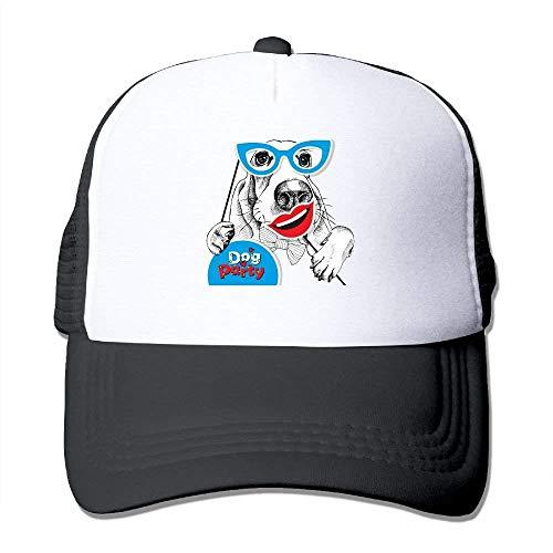 Mesh Baseball Caps Cute Make up Dog Unisex Adjustable Sports Trucker Cap
