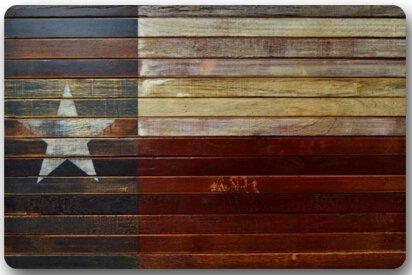 Western Texas Star Non-Slip Entryways Rectangle Indoor/Outdoor Rectangle Floor Mat Doormat - 23.6