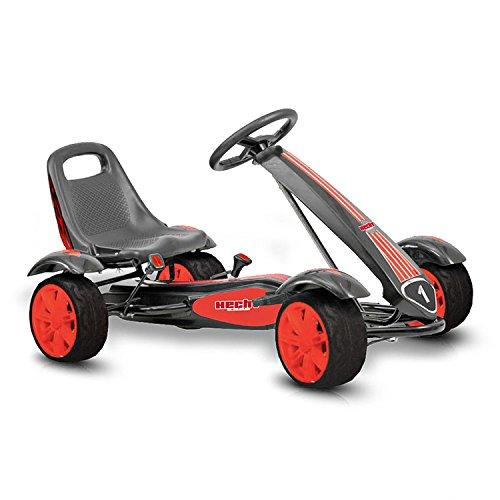 Hecht Go Kart 50200 Tretauto Go-Kart für Kinder (Rot-Schwarz)