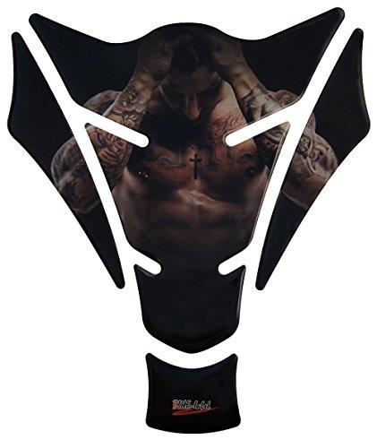 Tankpad 3D - sexy Man / tattooed Guy / Tattoo - 501253 - universell für Yamaha, Honda, Ducati, Suzuki, Kawasaki, KTM, BMW, Triumph und Aprilia Tanks