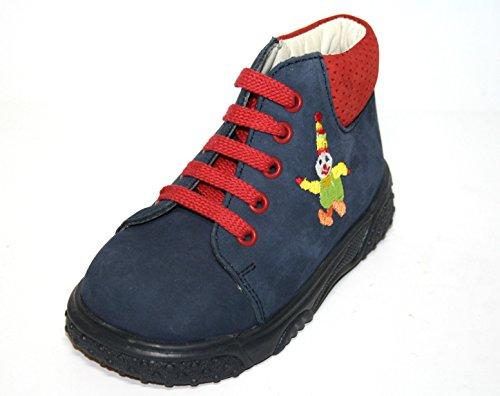 Jela , Chaussures de ville à lacets pour garçon bleu Atlantic-Sand Blau (ozean/rot)