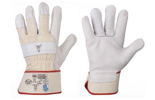 HandschuhMan. Arbeitshandschuhe weiche Lederhandschuhe Stierkopf von StrongHand Gr. 8-13 13 Premium-leder