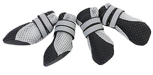 Magiböes 4 Stück Soft Haustier Schuhe Bootes für kleine Hunde Durable Alle Wetter Hundeschuhe Haustier Stiefel Pfotenschutz für Hund Boots Mesh Design (Stiefel Kleine Puppy)