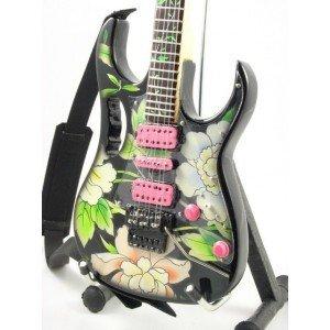Preisvergleich Produktbild Eurasia Miniatur-Ibanez-Gitarre von Frank Zappa / Steve Vai (mit Blumenmuster)