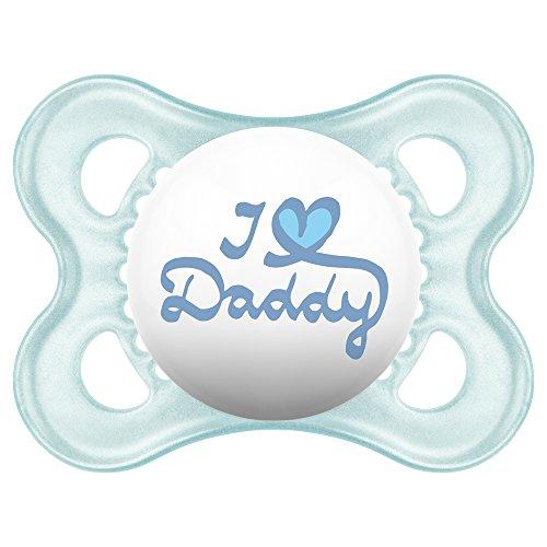 MAM Style - Coppia di succhietti con scritta'I love Mummy/Daddy', 2 pz.