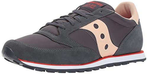 Saucony Jazz Low Pro, Chaussures de Gymnastique Homme Gris (Charcoal/tan)