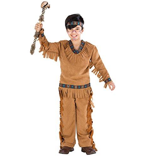 TecTake dressforfun Jungenkostüm Indianer | Wundervolle Indianerverkleidung mit aufgenähten Franzen (5-7 Jahre | Nr. - Franzen Kostüm