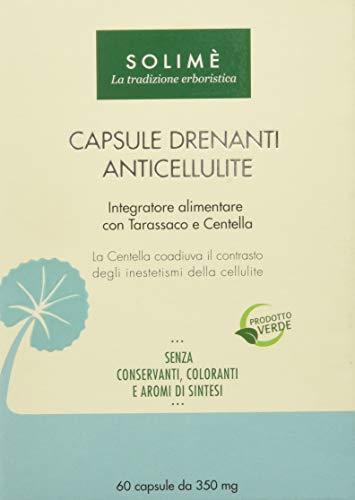 Capsule drenanti anticellulite con ginkgo biloba, tarassaco e centella 60 capsule da 350 mg - prodotto erboristico made in italy