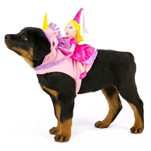Dog Costumes Hunde Pet Karneval Fasching Halloween Kostüm Prinzessin Reiterin Hunde Reiter ()