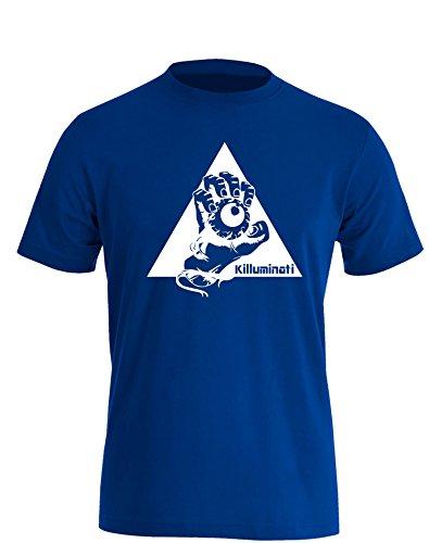Illuminati Killuminati Faust - Herren TShirt Royal / Weiß