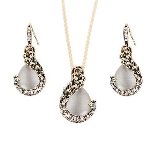 Zqword orecchini in cristallo placcato oro 18 carati orecchini pendenti in oro placcato con pietre preziose orecchini per donna