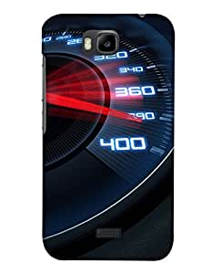 PrintHaat Designer Back Case Cover for Huawei Honor Bee :: Huawei Honor Bee Y5c :: Huawei Honor Bee Y 5c (I love racing :: speed :: fast and furious :: top gear :: speedometer going beyond limits :: in black, white and red)