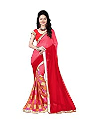 Airson Fab pink Chex Designer Saree