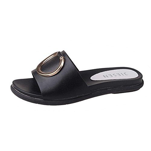 Ciabatte Da Donna,Scarpe Casuale Piatto Coreano,Studentessa Muffin Spiaggia Pantofole,Sandali Flip-flop B