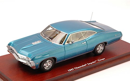 chevrolet-impala-coupe-1967-metallic-blue-143-true-scale-miniatures-auto-stradali-modello-modellino-
