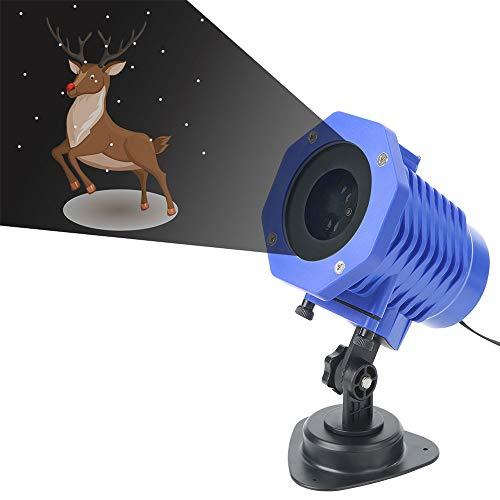 YLOVOW Projektor-Licht, wasserdichtes IP65-LED-Anime-Projektions-Nachtlicht mit 8-Muster-Fernbedienung, Urlaubsfeiertags-Deko