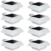 Uniquefire Luci Solari Nuova Versione Colore Bianco 6 LED Impermeabile All