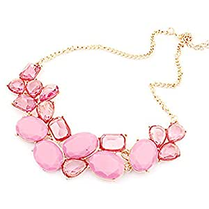 Hebe Jewerly Korea Style Rhinestone Necklace(Assorted Color)