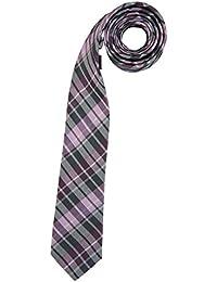 VENTI Krawatte aus reiner Seide 6 cm breit Karo rosa